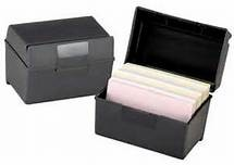 Index Card Box, 3x5 Black