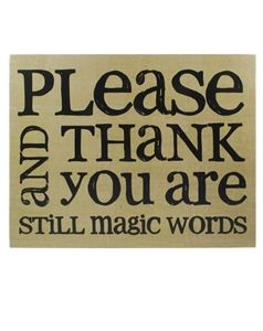 Please & Thank You Magic Words
