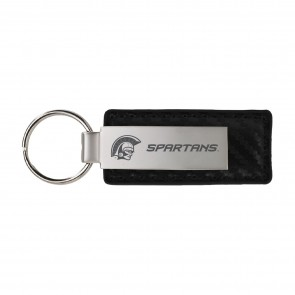 Spartans Carbon Leather Keytag
