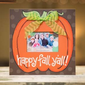 Happy Fall Y'all Pumpkin Frame