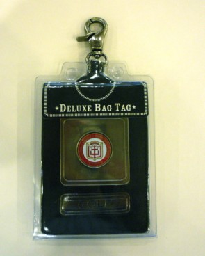 Bag Tag Deluxe, Blk Leather