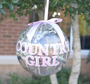 Ornament Country Girl