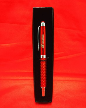 Red Carbon Rollerball GACS Pen