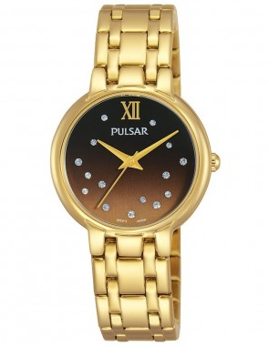 Ladies Gold Crystal Accents