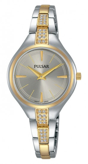 Ladies Crystals 2 Tone Watch