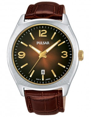 Men's Trad Brown Leather Strap