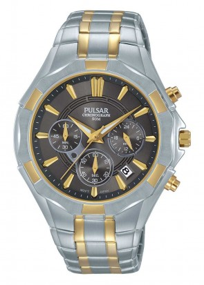 Men's 2 Tone Chronograph Watch