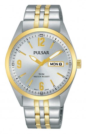 Men's 2 Tone SS Watch Day/Date