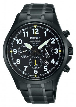 Men's Solar Black Chronograph