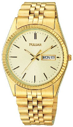 Men's Gold Tone Calendar Watch