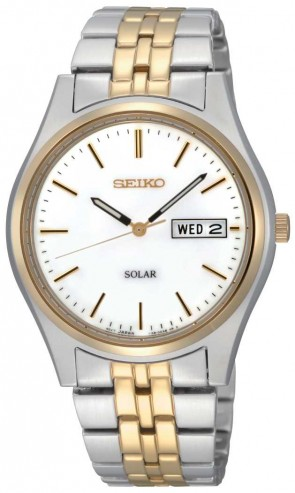 Seiko Mens Solar 2 Tone Watch