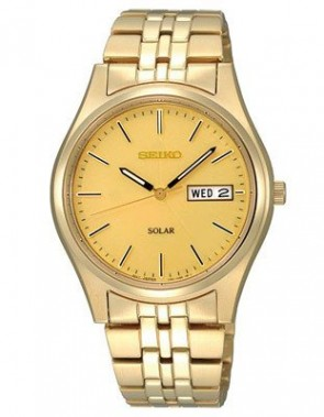 Seiko Mens Gold Stainless Watc