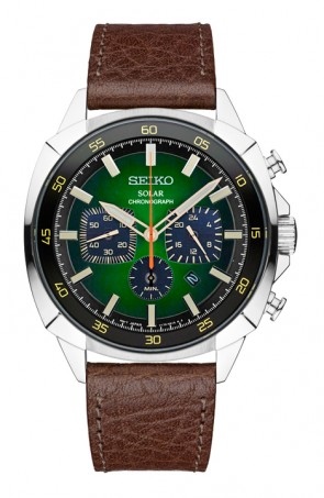 Men's Chronograph w Green Dial